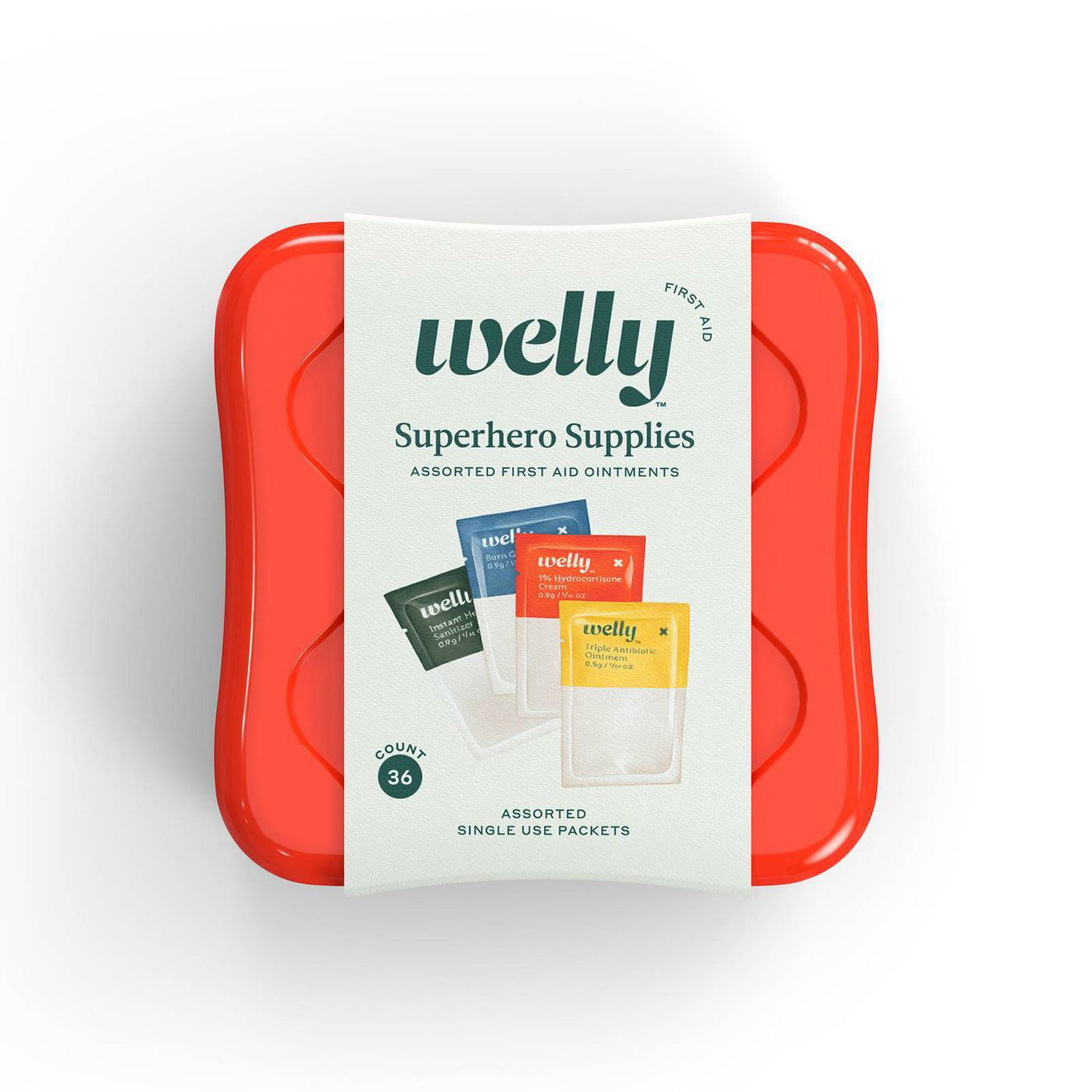 Welly Superhero Supplies Assorted Ointment First Aid Kit