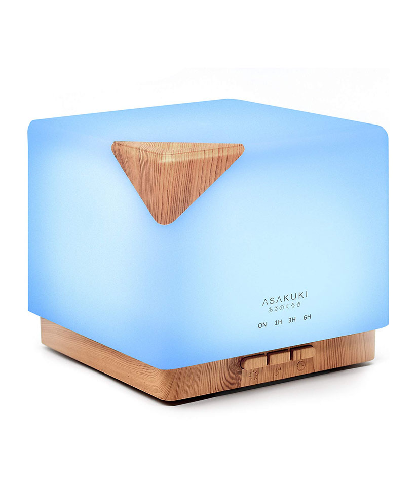ASAKUKI Square 5-in-1 Essential Oil Diffuser
