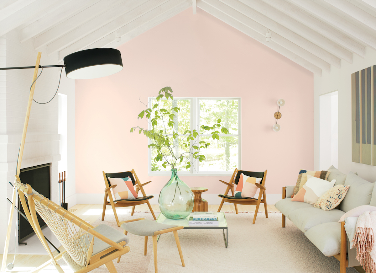 Benjamin Moore 2020 Color of the Year, in living room