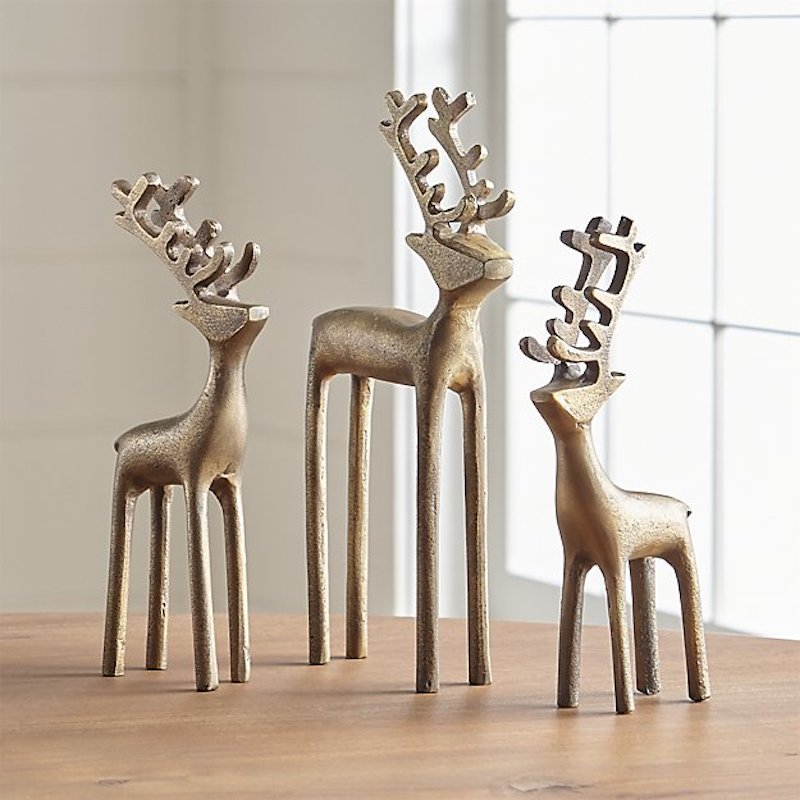 Bronze decorative reindeer