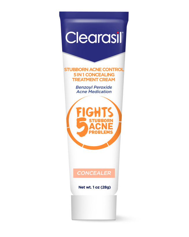 Best Drugstore Concealer: Clearasil Stubborn Acne Control 5 in 1 Concealing Treatment Cream