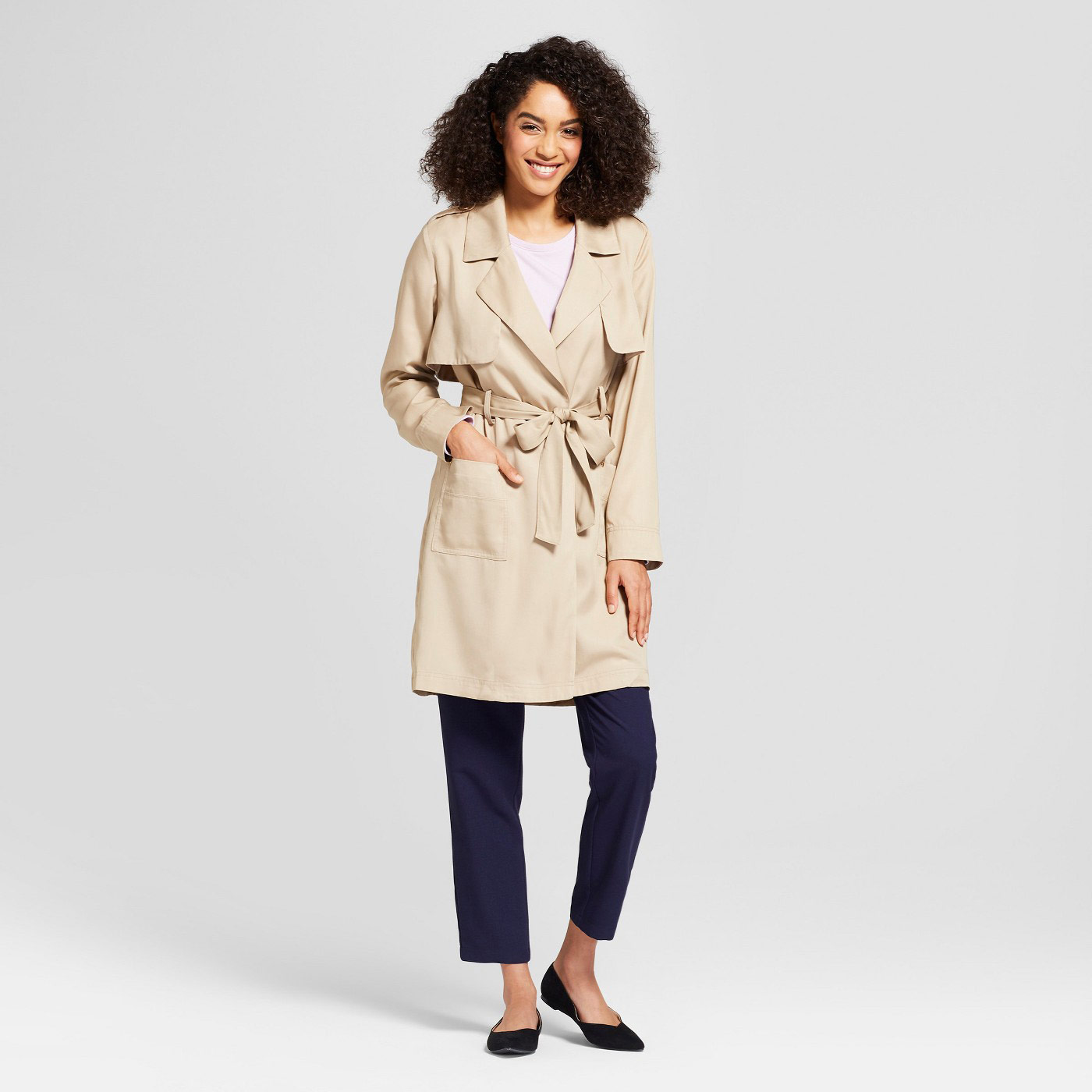 A New Day Tan Women's Trench Coat