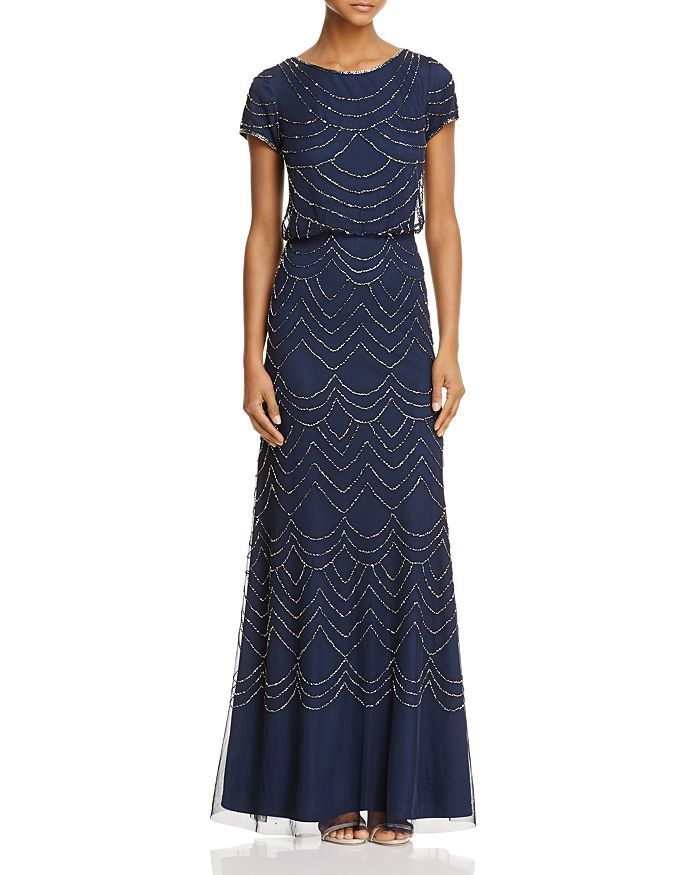 beaded Adrianna Papell gown