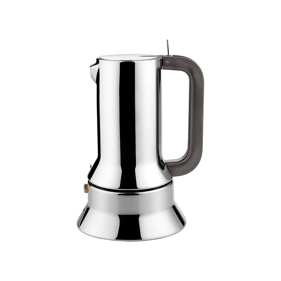 stainless steel espresso maker with cups
