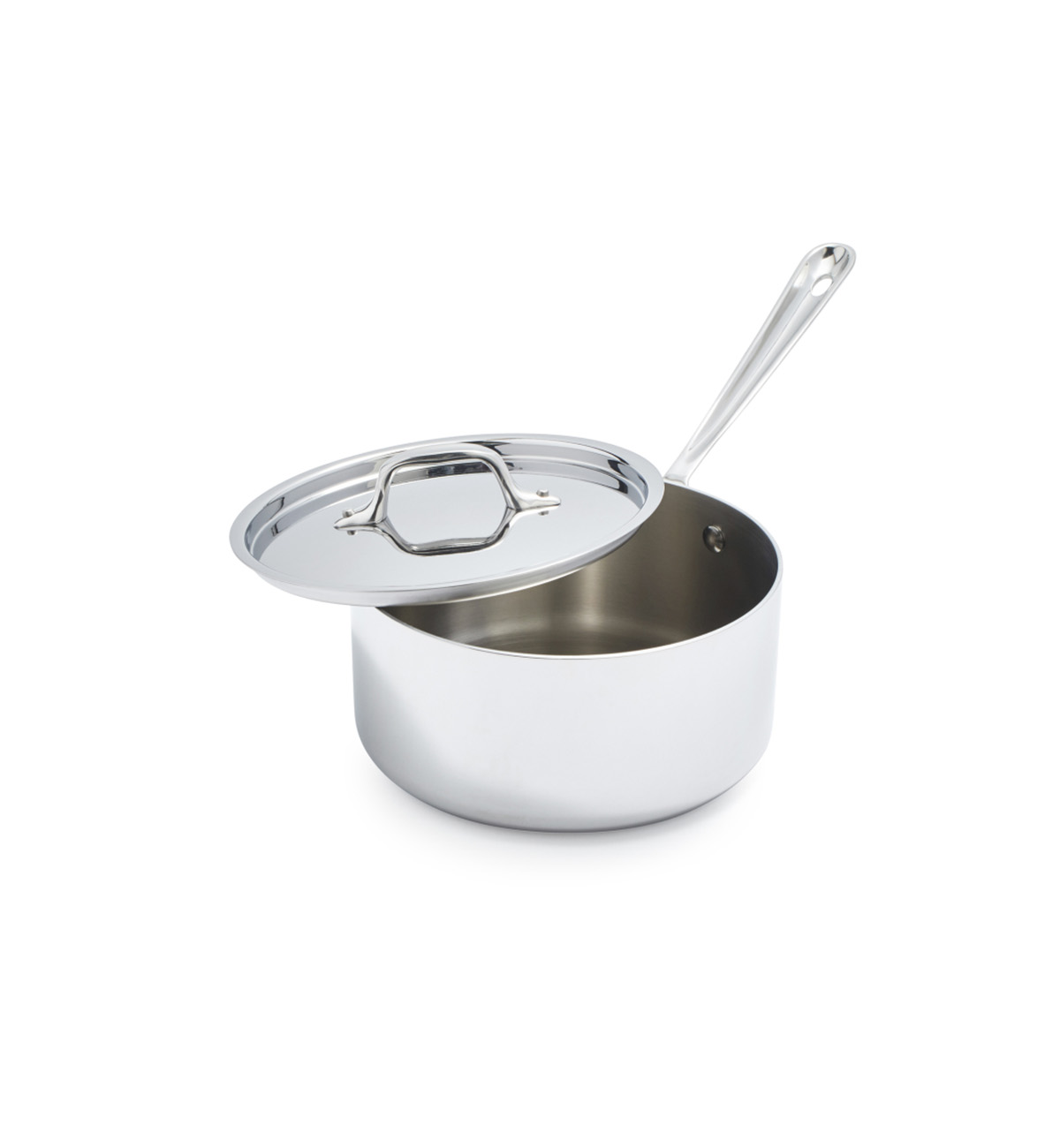 All-Clad Stainless Steel Saucepans with Lids