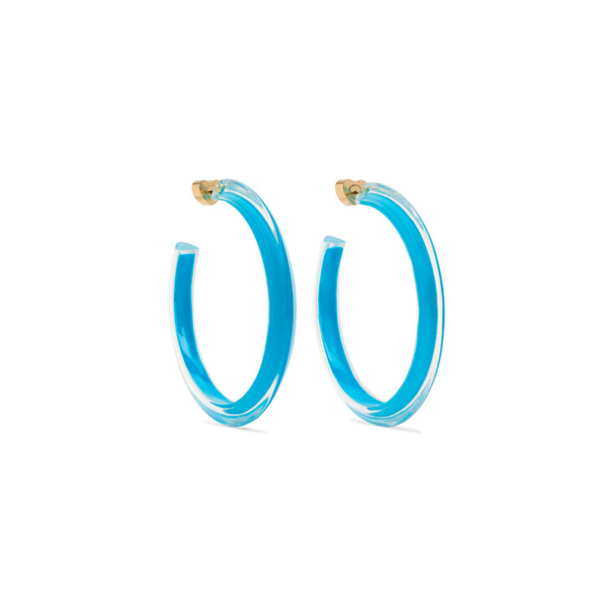 alison lou blue jelly lucite earrings