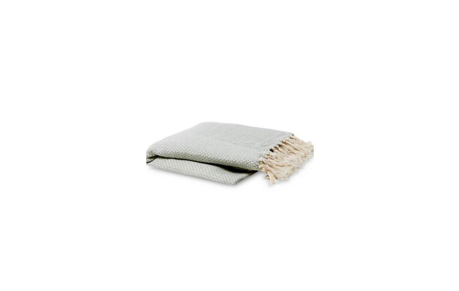 Allswell blue woven throw