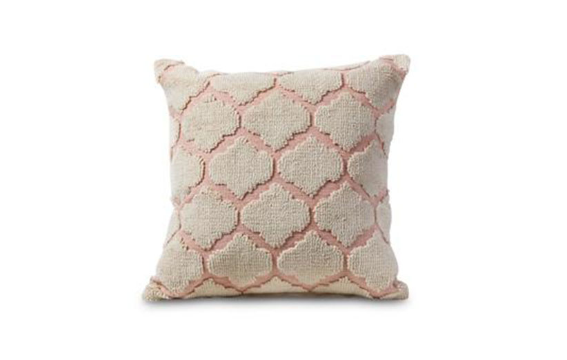 Allswell pink geometric pillow