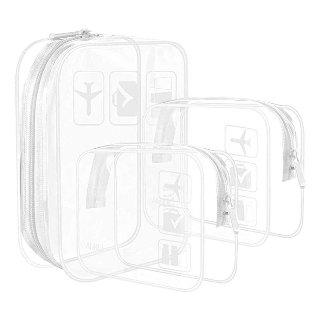 Anrui Clear Toiletry Bag 3-Pack