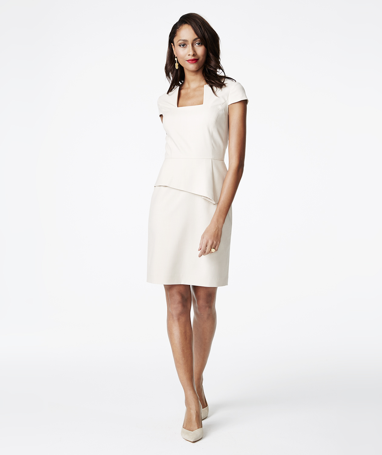 Antonio Melani Gwen Peplum Twill Dress