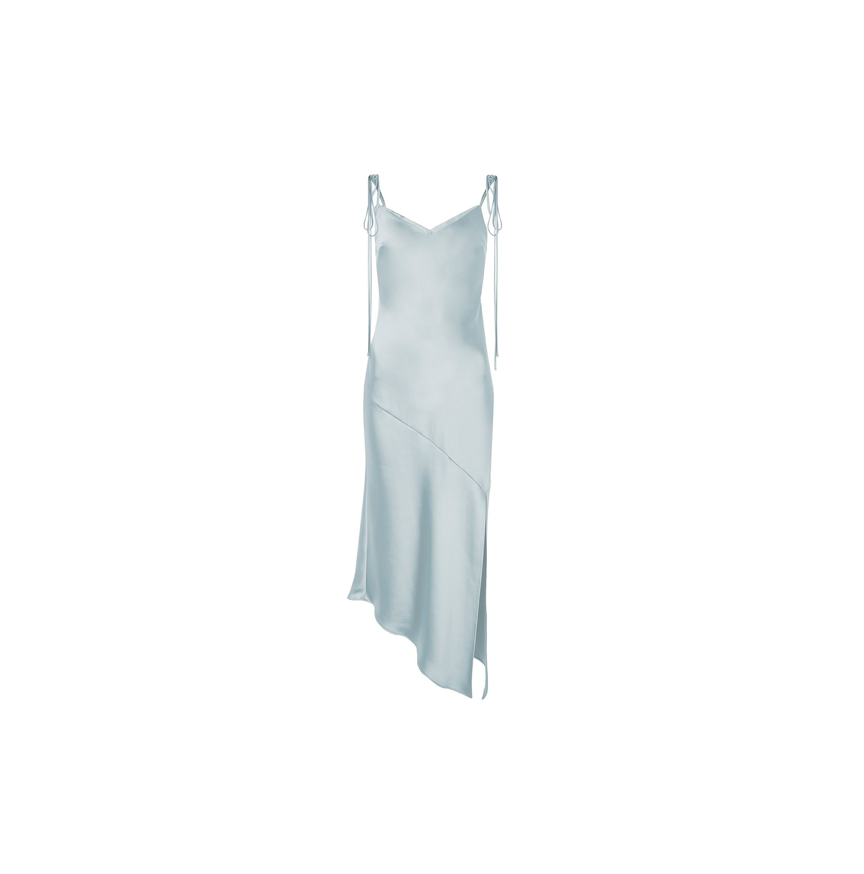 Asymmetric Hem Slip Dress