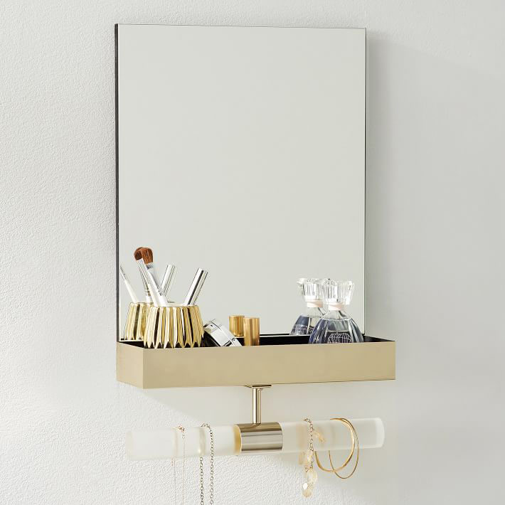Ava Frosted Acrylic Mirror Jewelry Store