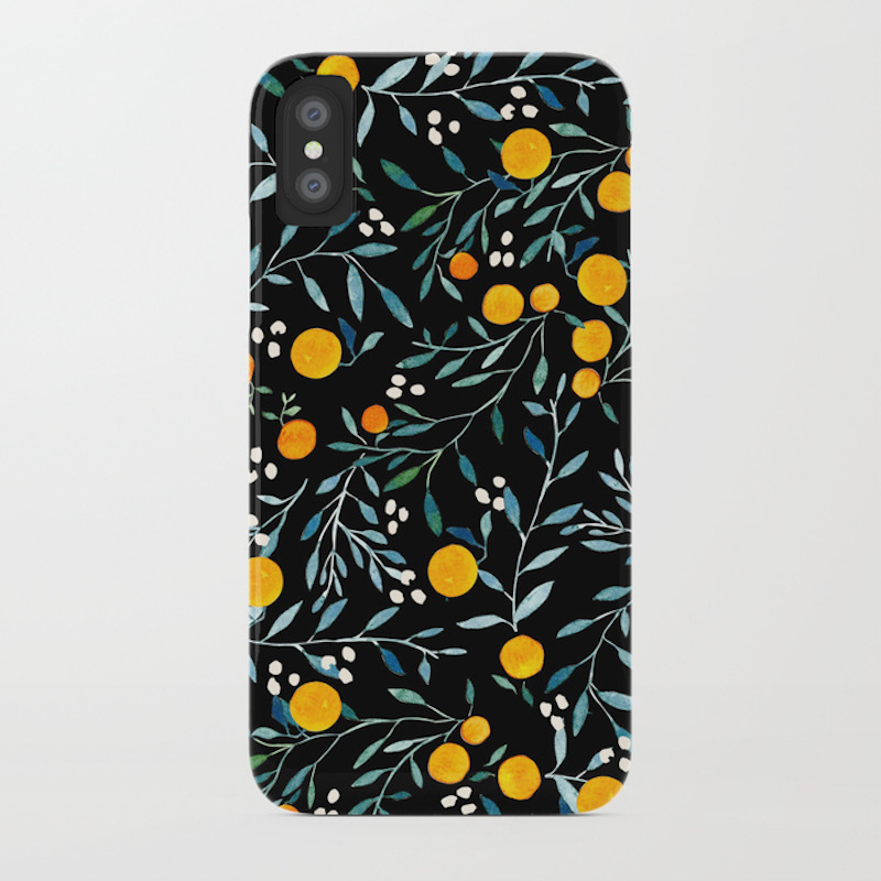 Back to School Shopping, phone case with oranges