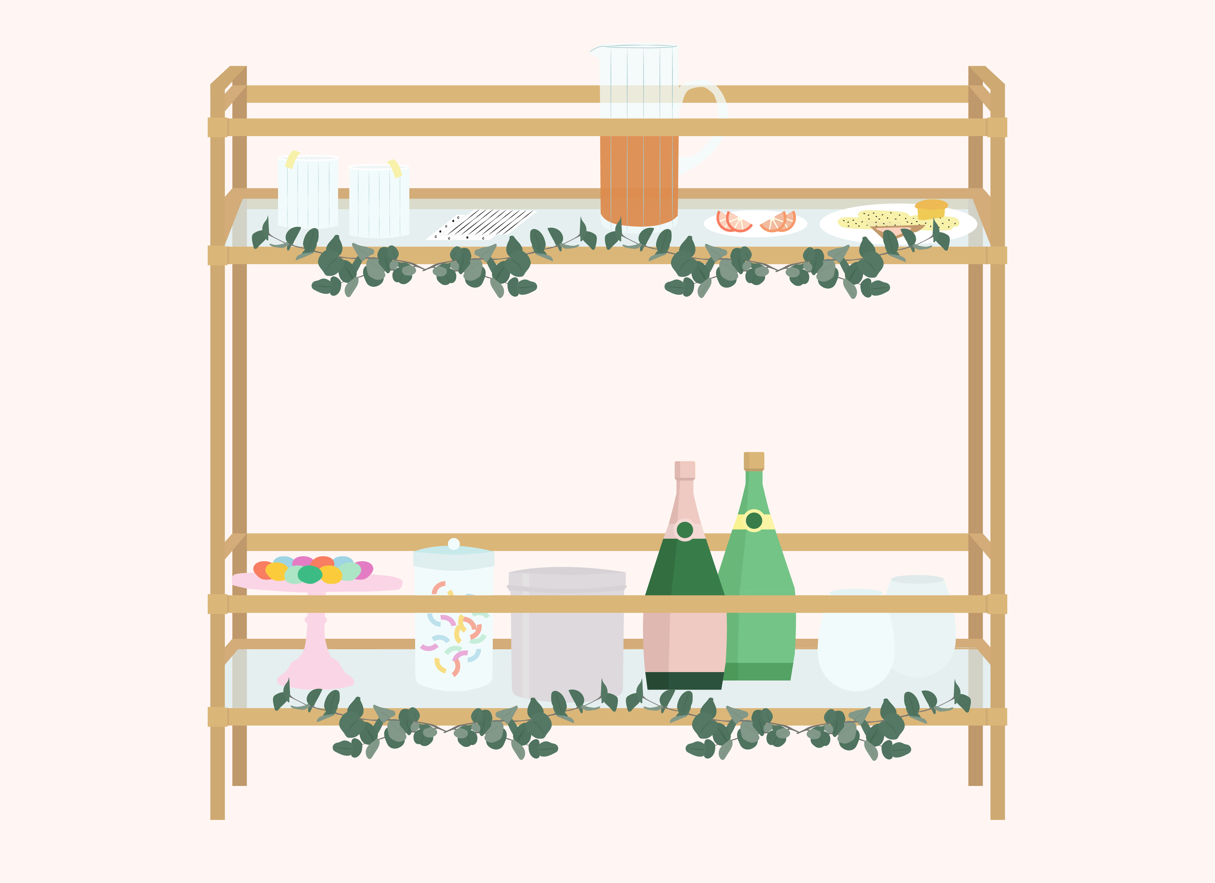 Holiday Decorations for Your Bar Cart