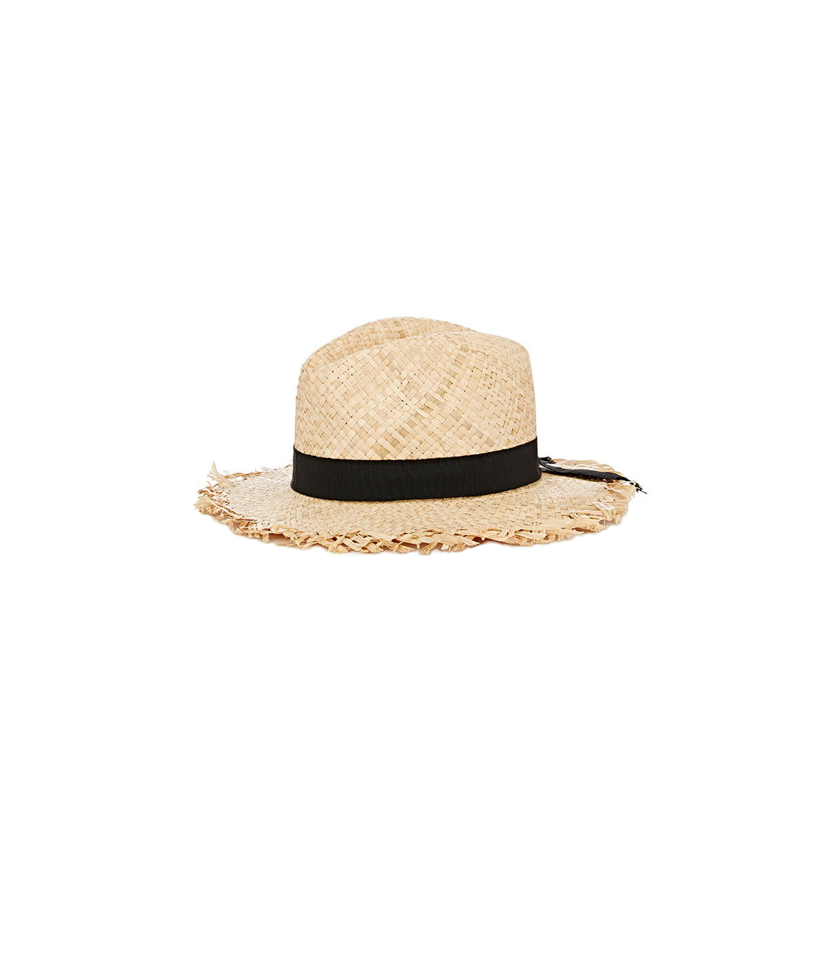 Barneys New York Warehouse Raw-Edge Straw Hat