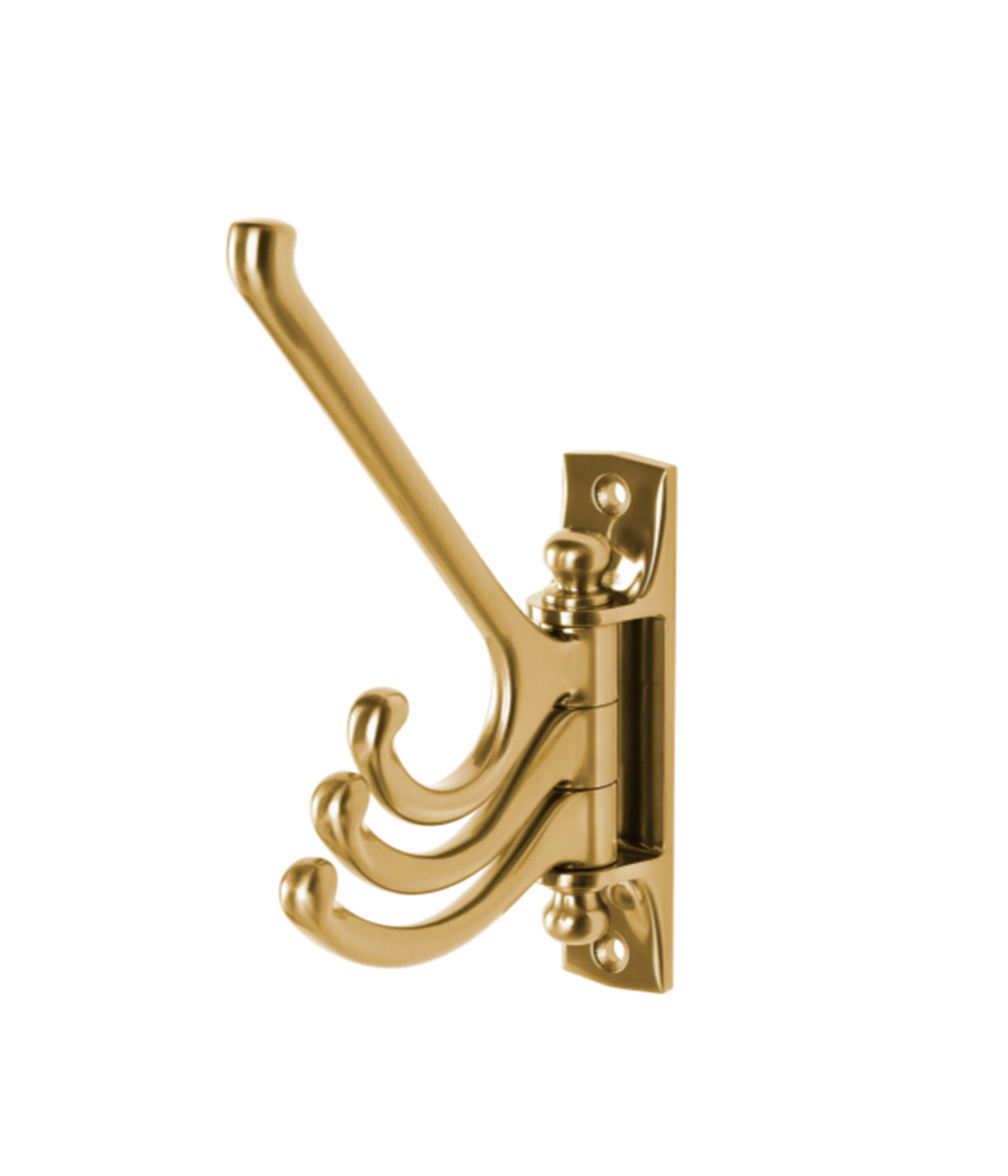 Bathroom organizers, gold swivel hooks