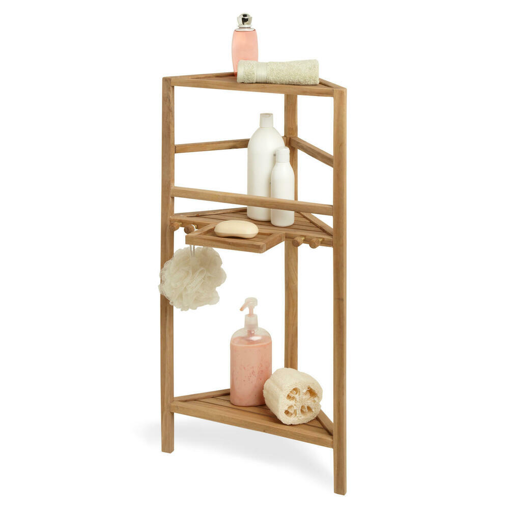 Bathroom organizer, corner shelf