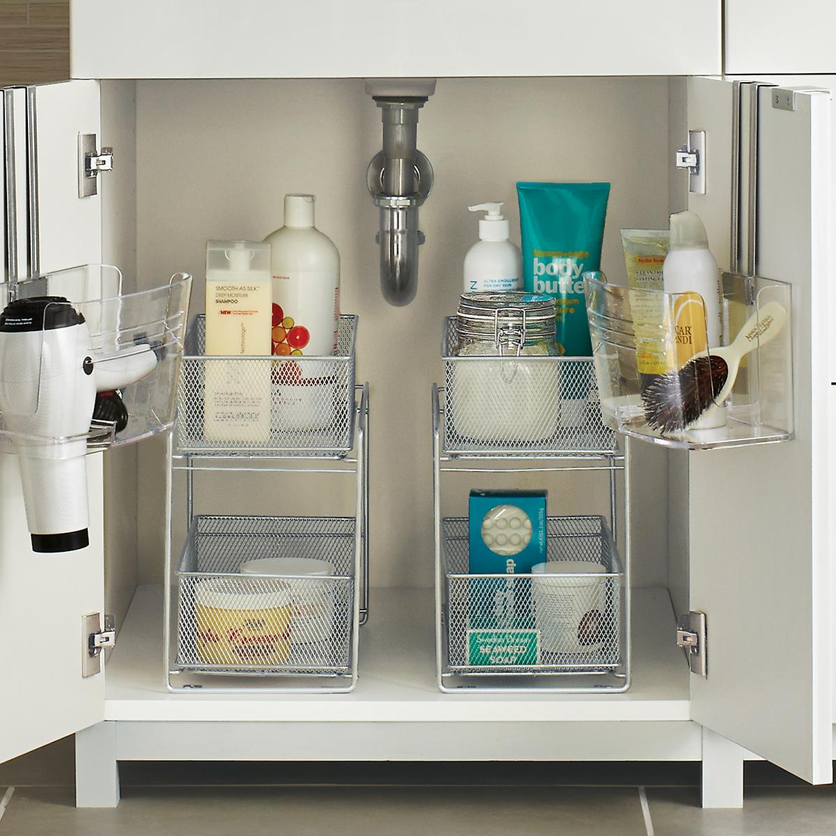 Bathroom organizers, under the sink storage