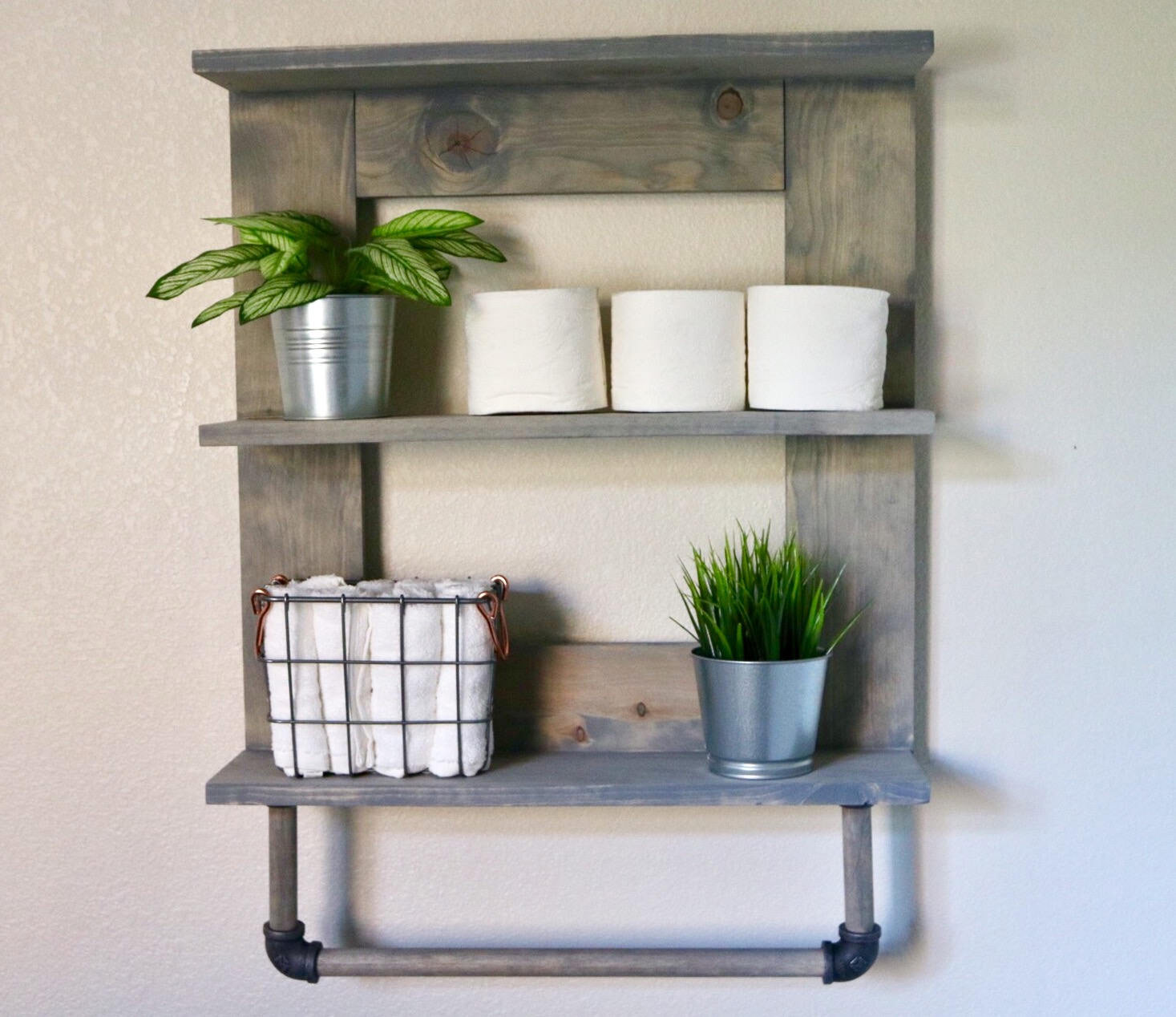 Towel Rack and Bathroom Organizer