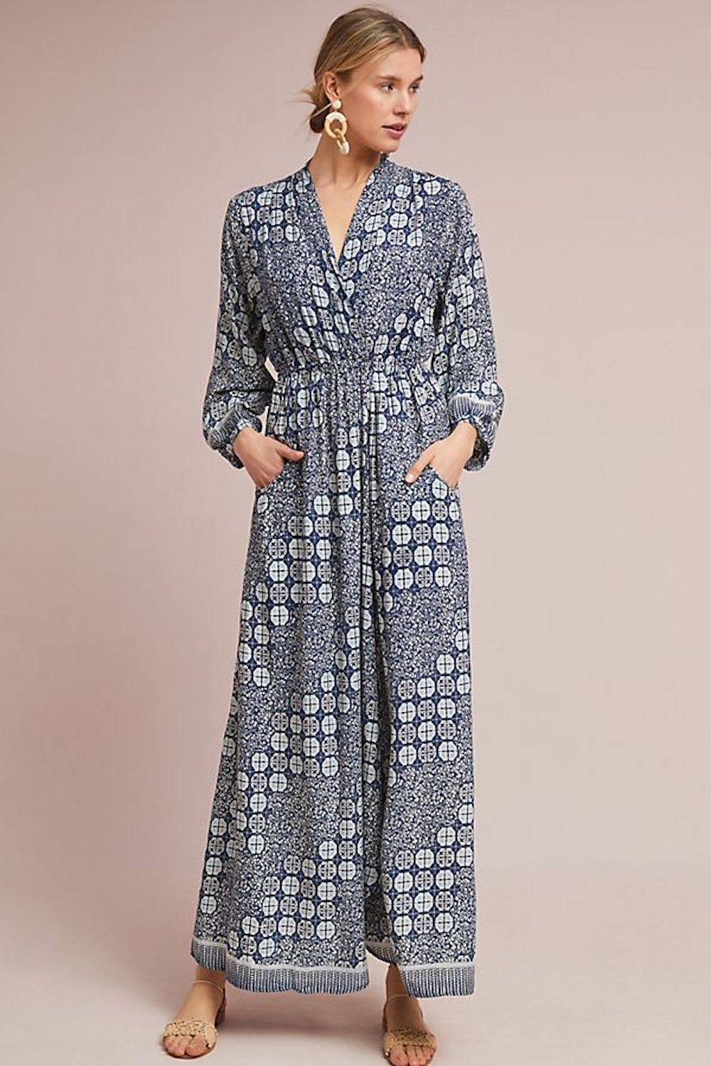 Anthropologie Batik Printed Maxi Dress From Pinterest