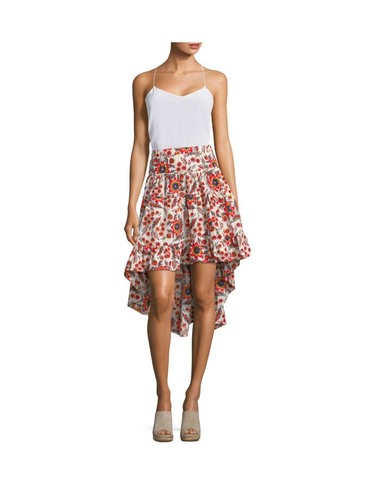 High-Low Batik Skirt From Joie
