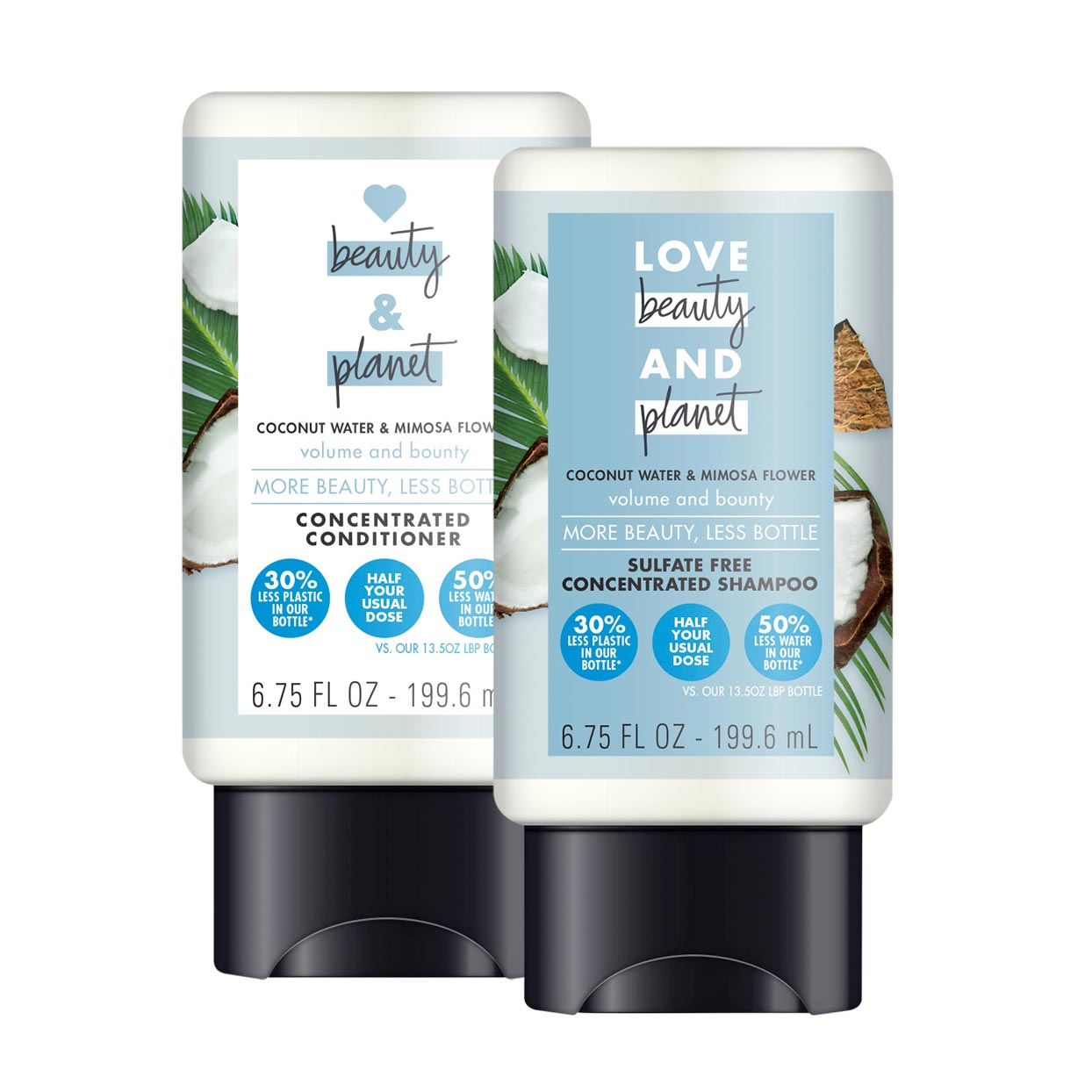 Love Beauty and Planet Concentrated Shampoo and Conditioner