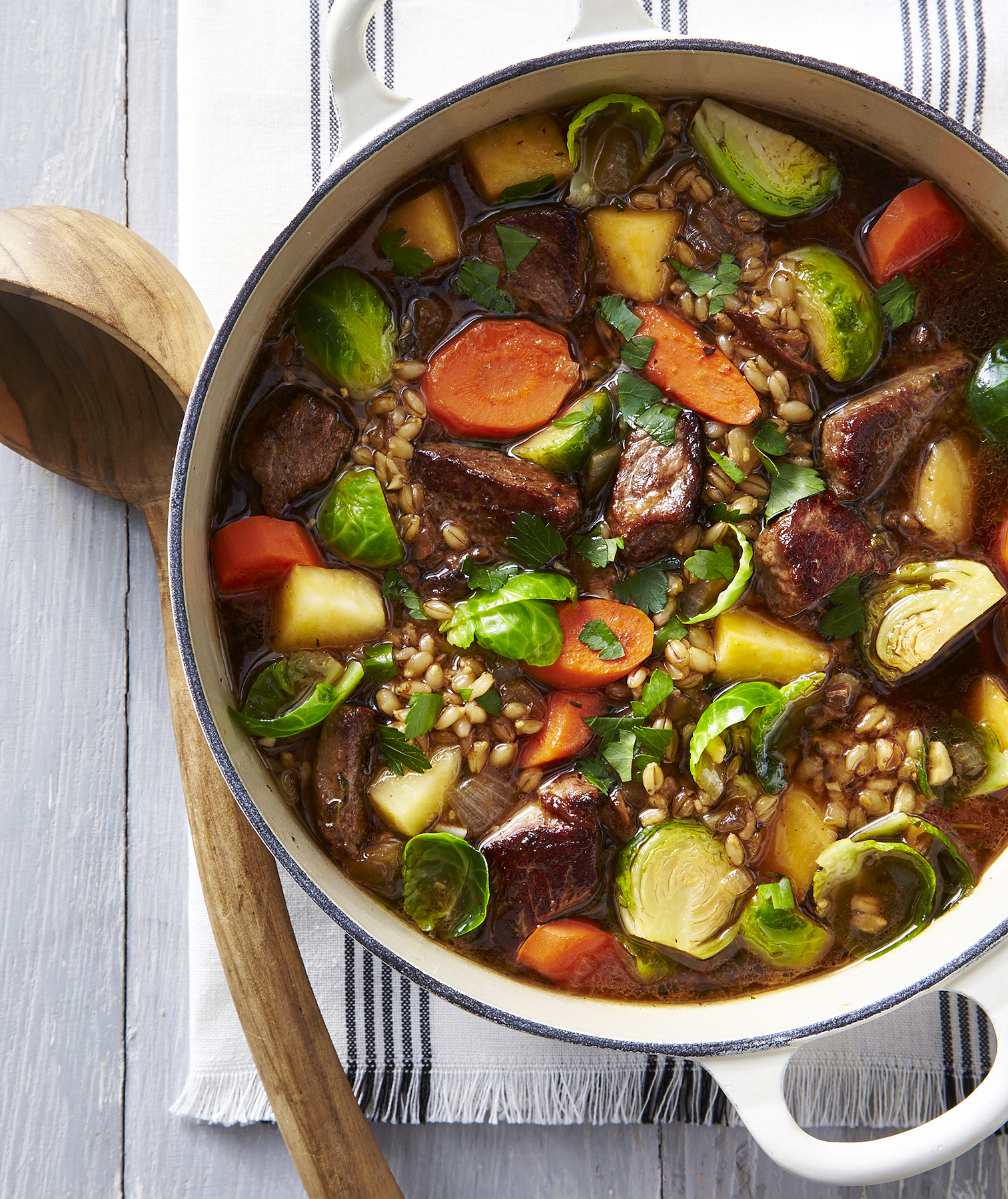 Beef-and-Barley Soup With Porcini
