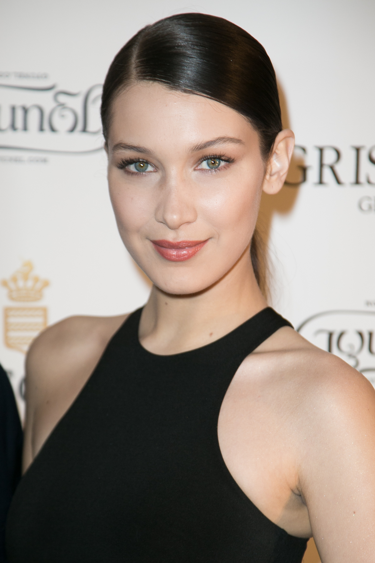 Bella Hadid Ponytail and Side Part