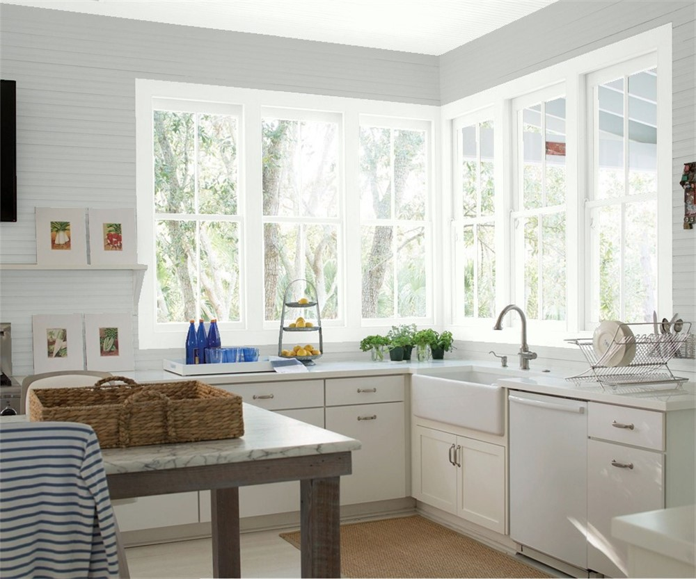 Benjamin Moore Greige Paint in country style kitchen