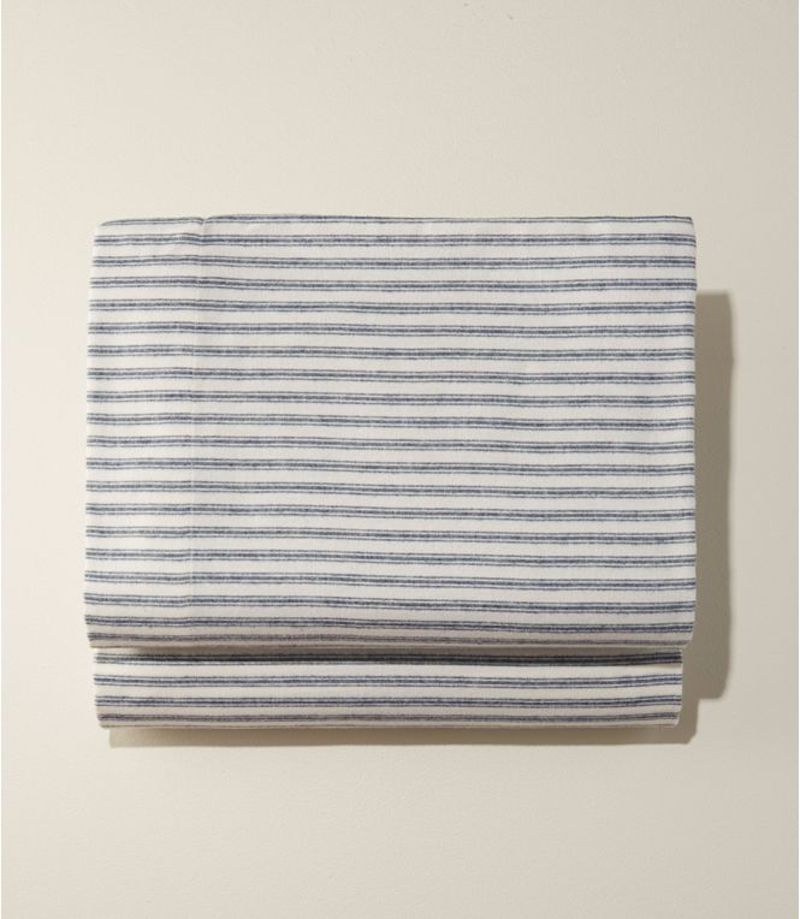 Striped flannel bed sheets