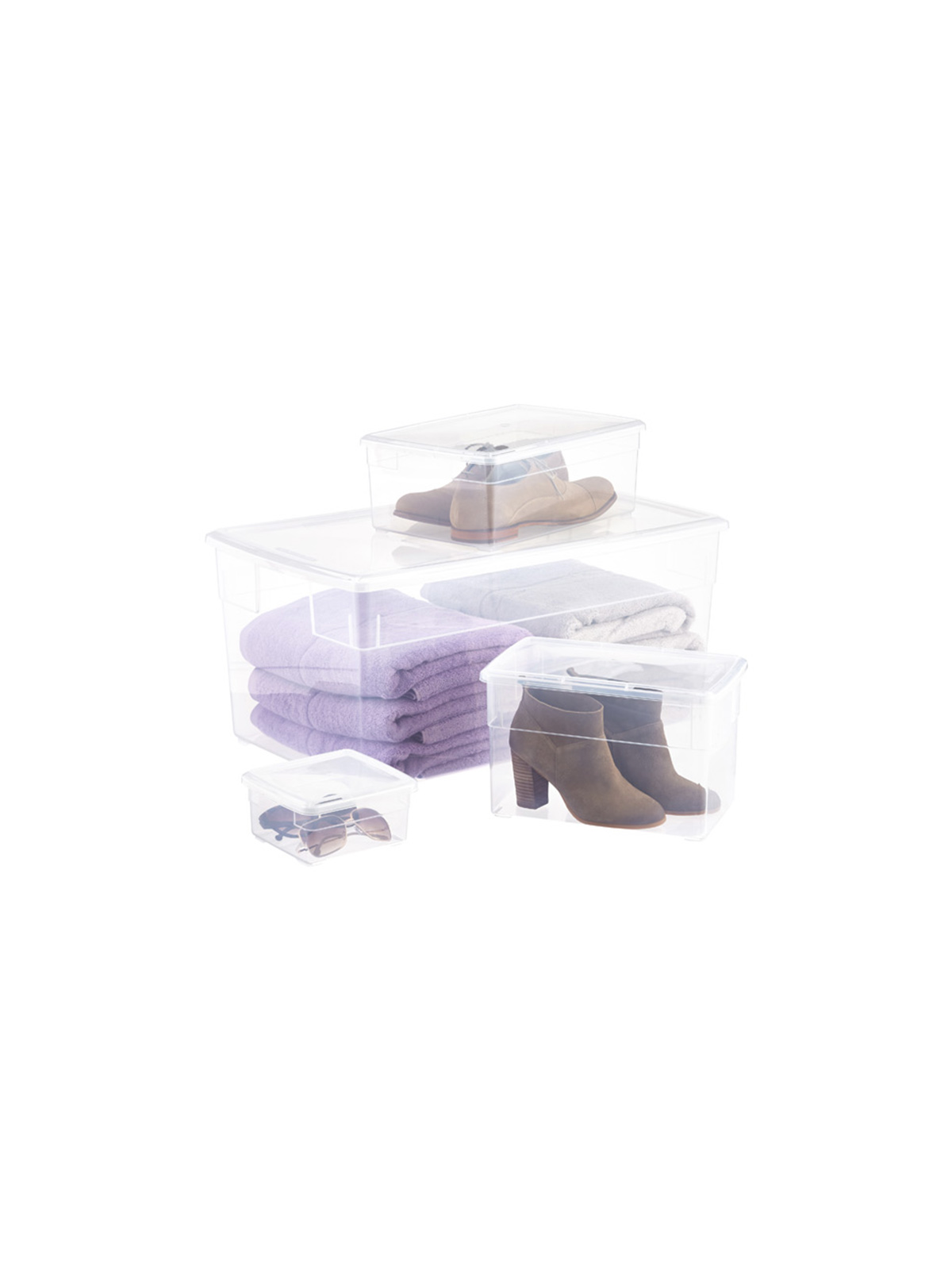 Best Container Store Organizers, clear plastic storage bins