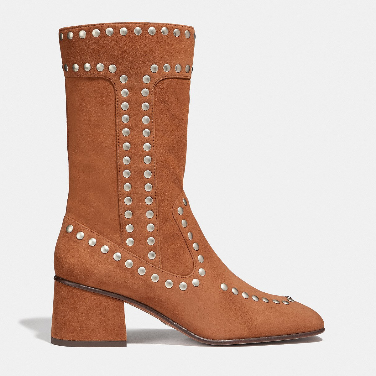 Coach Bootie With Rivets