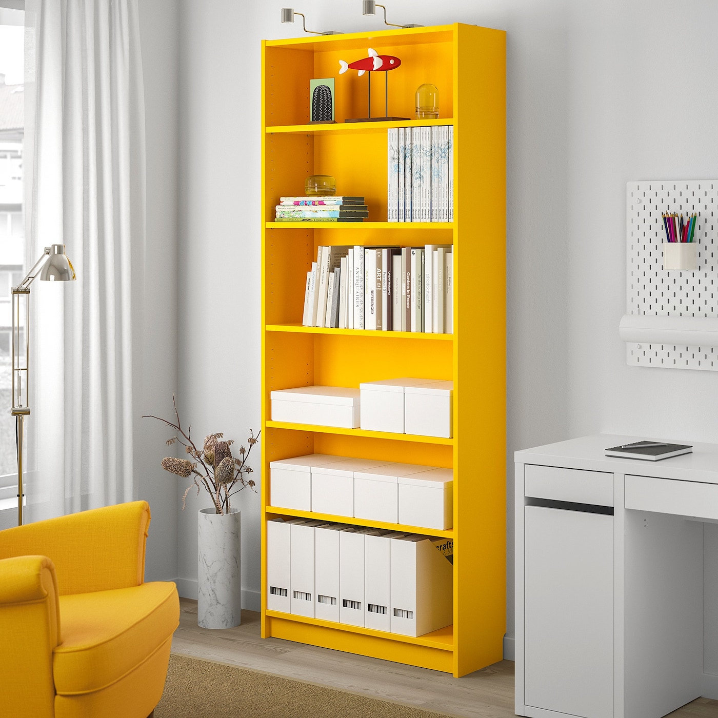 Best IKEA Products, BILLY yellow bookcase