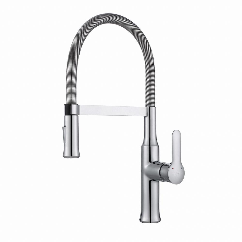 best kitchen faucets, pull-down chrome faucet from Home Depot