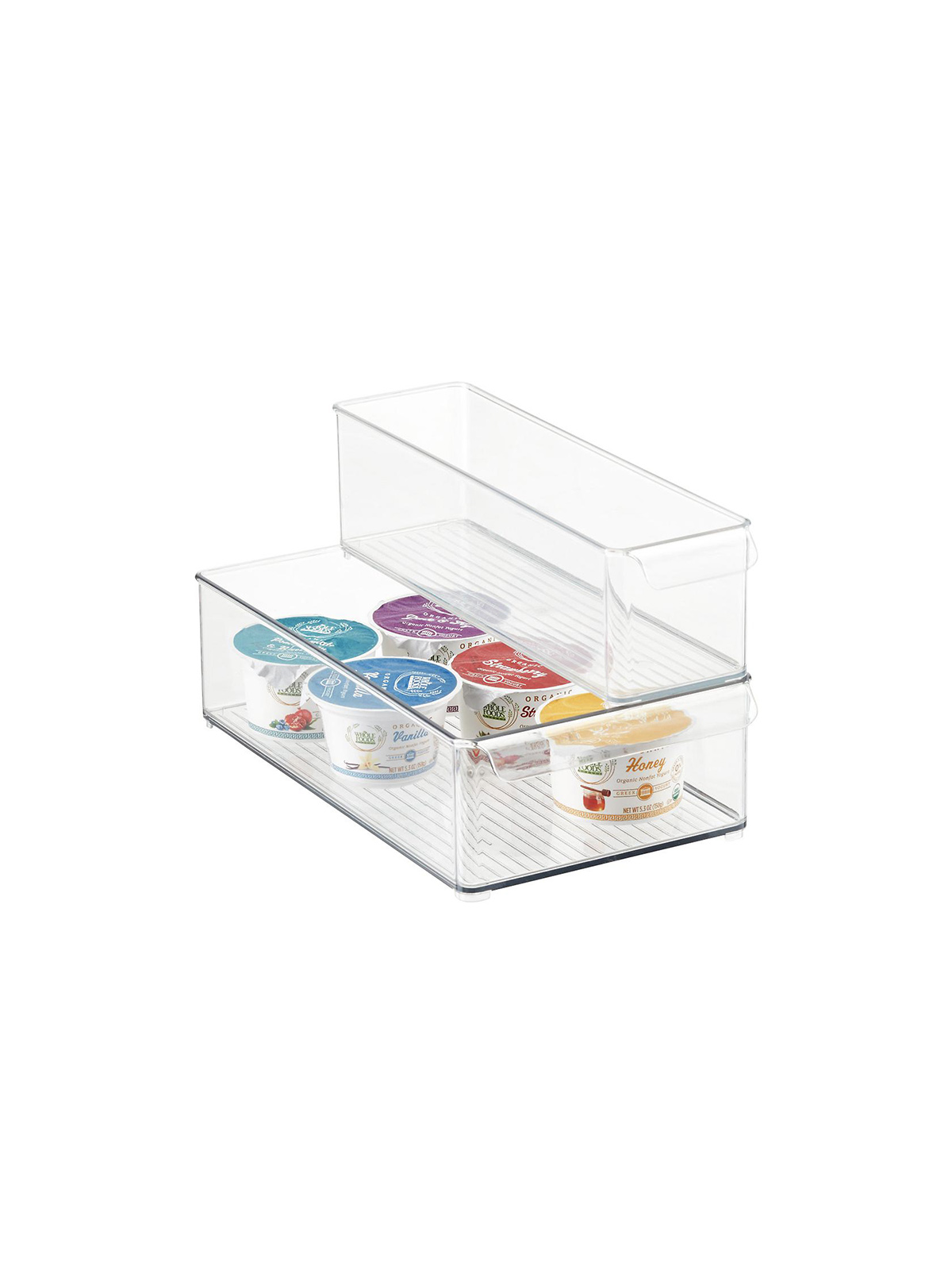 Best Kitchen Organization Ideas, Clear Plastic Fridge Bins