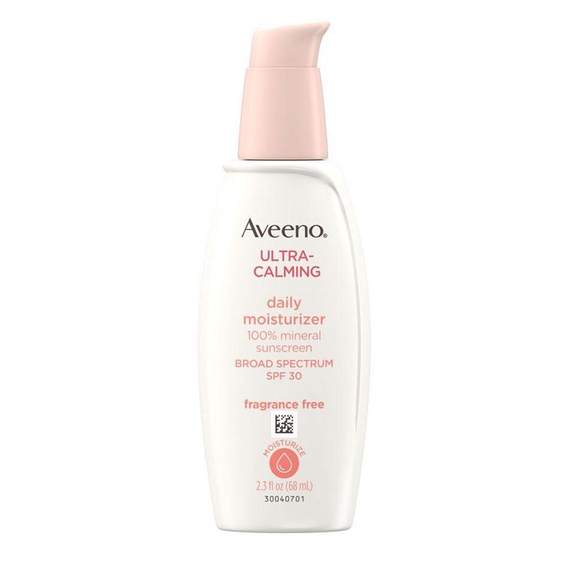 Best Moisturizers for Acne: Aveeno Ultra-Calming Daily Moisturizer