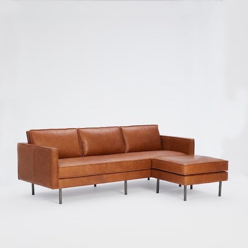 Best sectional sofas, leather West Elm sofa
