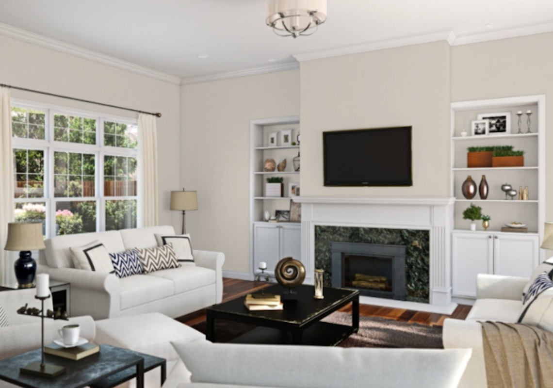 Agreeable Gray by Sherwin-Williams in living room