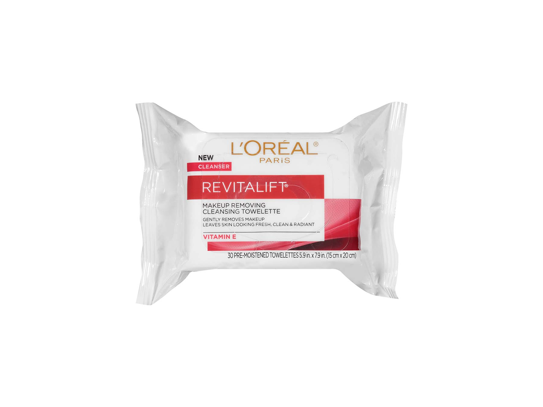 Best Anti-Aging Products: L'Oreal Revitalift Radiant Smoothing Wet Cleansing Towelettes