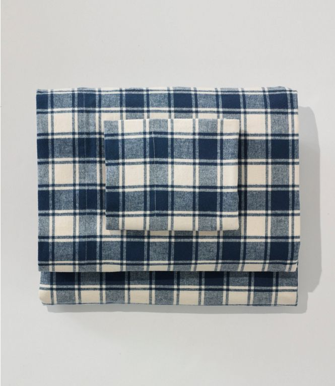 Plaid flannel bed sheets