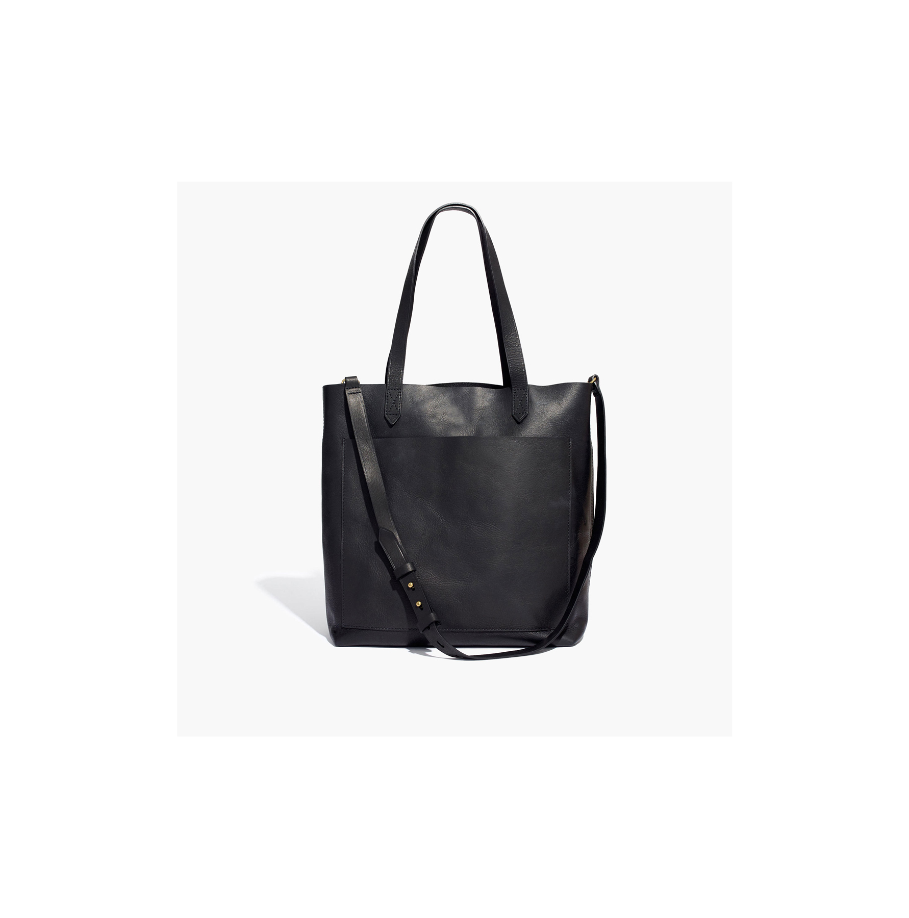 Best Work bags for women Madewell Black leather tote bag