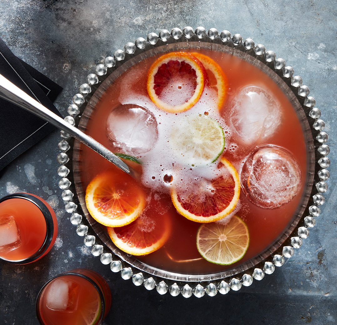 Big batch cocktails - Holiday Punch Recipe