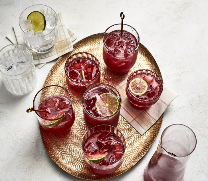 Big batch cocktails - Pomegranate-Lime Tequila Punch