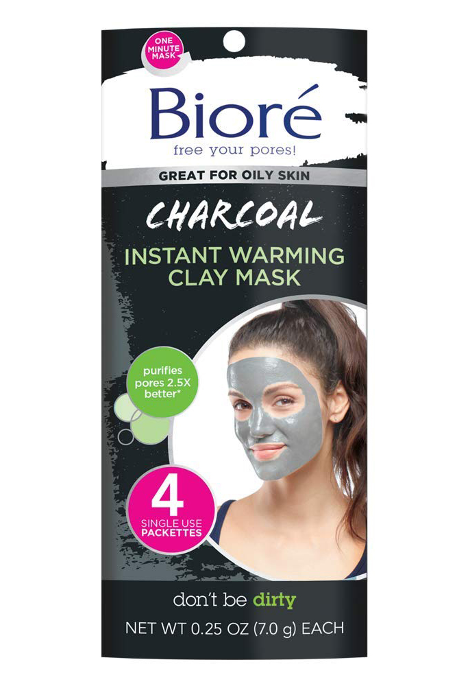 Best Face Masks: Bioré Charcoal Self-Heating One Minute Mask