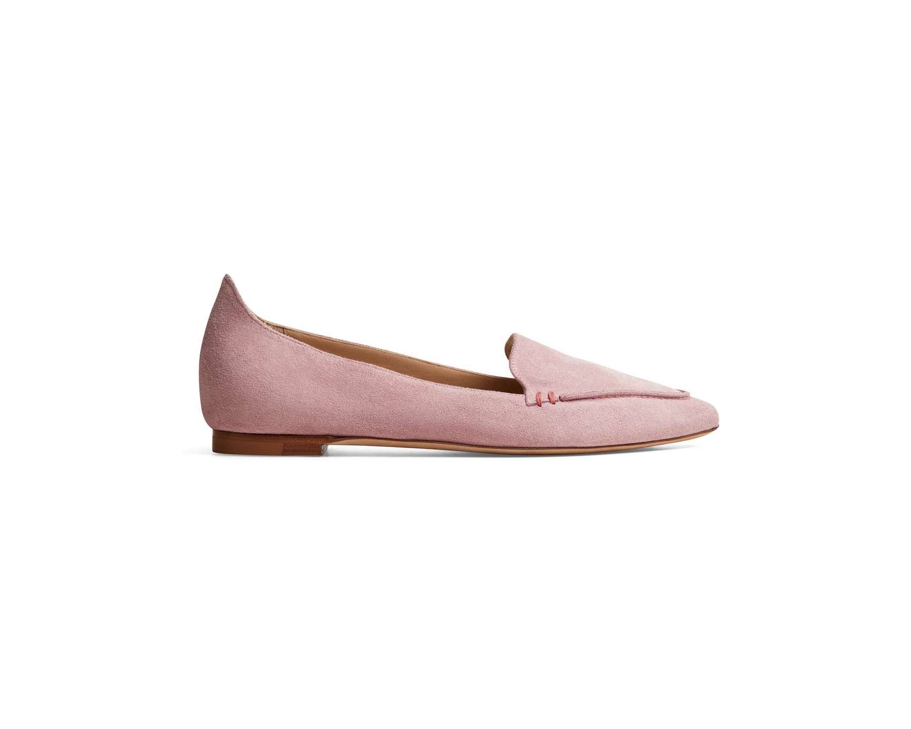 Pink suede flats from M.Gemi