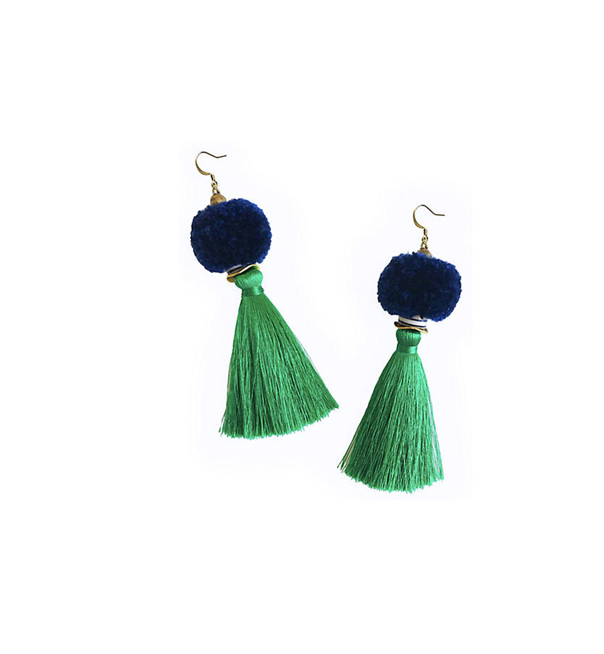 Tassel Pom-Pom Drop Earrings