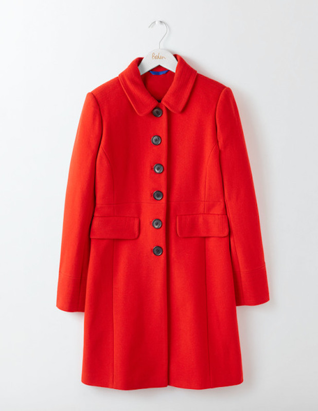 Boden Sofia Coat in red