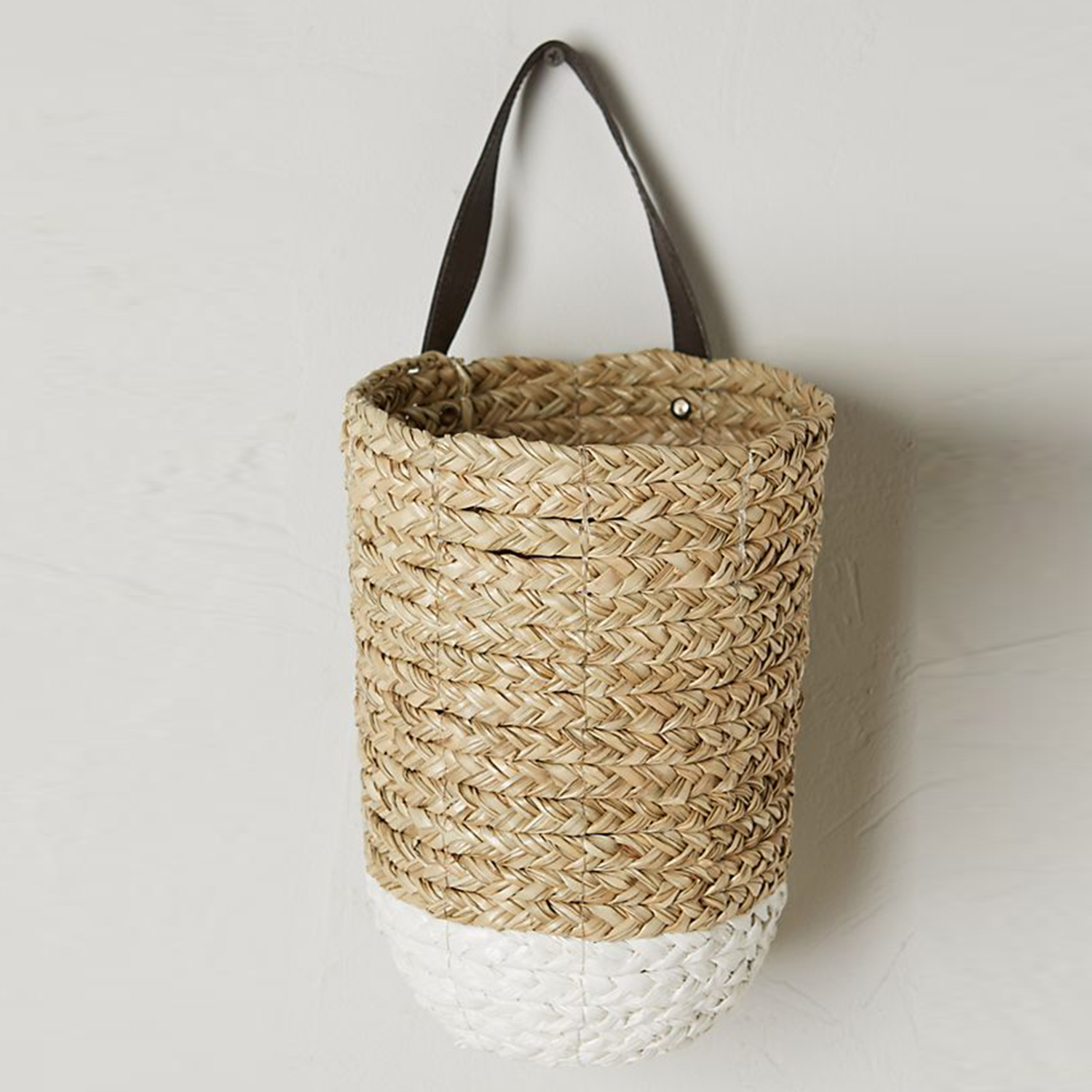 Anthropologie Braided Hanging Basket