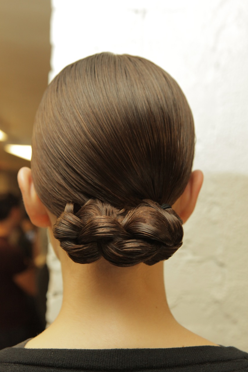 Braided low doat the Joseph DiMaggio for Novis show during New York Fashion Week