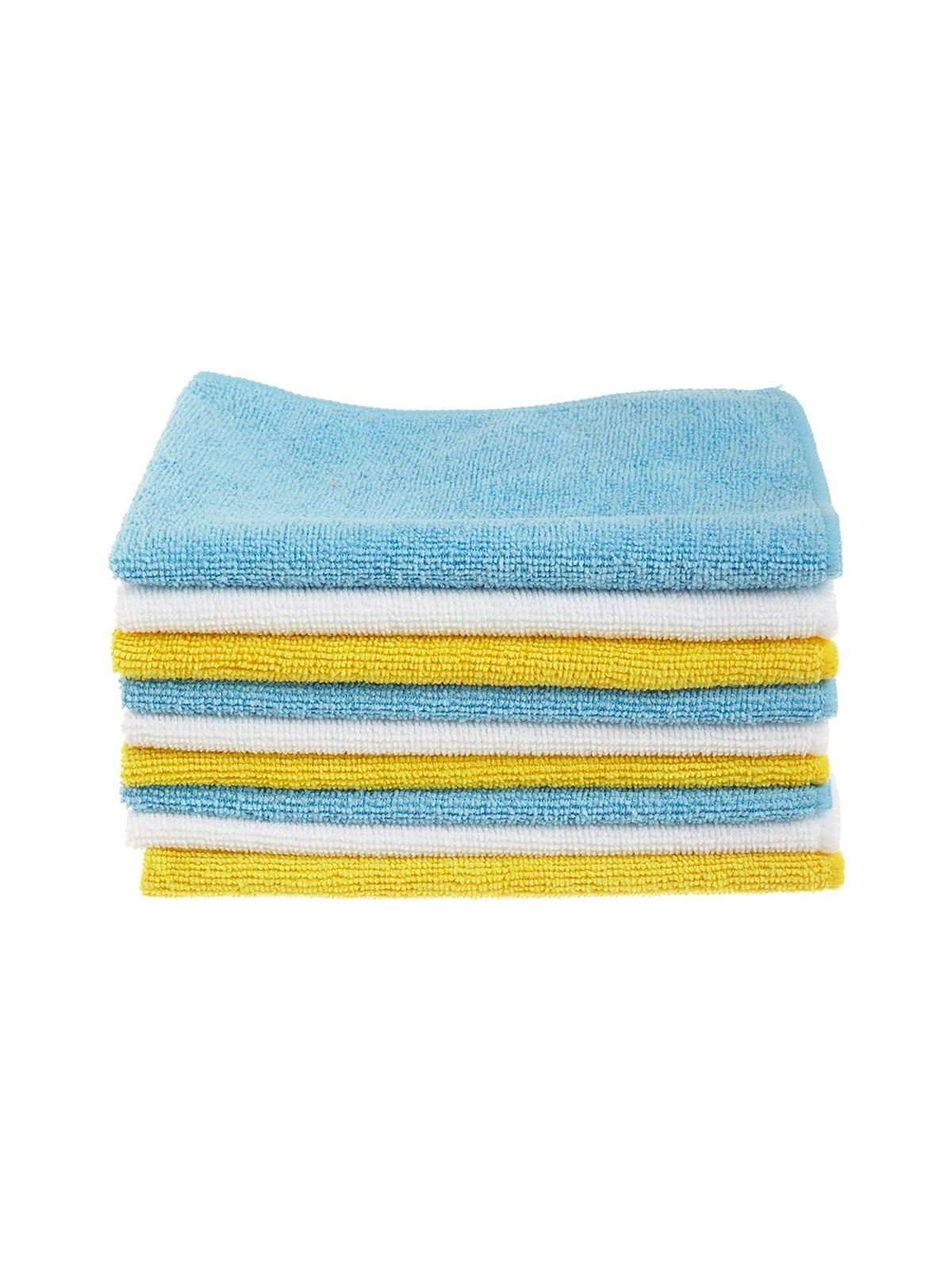 Blue and Yellow Microfiber Cleaning Cloths